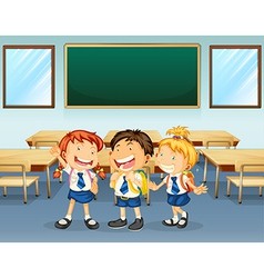 Happy students vector