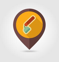 hoe flat pin map icon garden equipment vector image