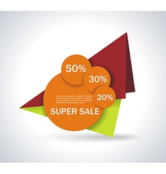 Hot deal color 3d realistic paper sale tags vector image vector image