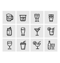 icon beverage vector image vector image