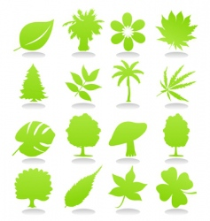 icons of plant vector image vector image