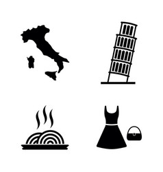 italy simple related icons vector image vector image