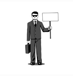 Lawyer with signboard vector image