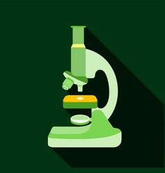 microscope icon flat style vector image