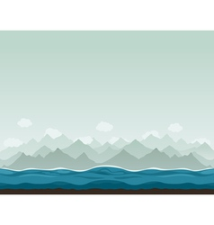 Mountains ashore2 vector image vector image