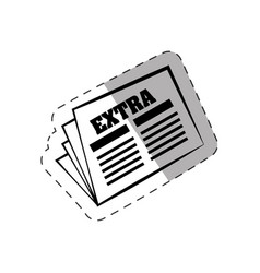 Newspaper letter extra paper vector
