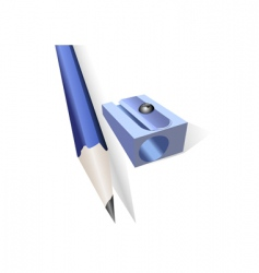 pencil and pencil sharpener vector image vector image