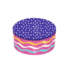 round cake vector image vector image