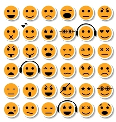 Set of Emoticons Isolated vector image vector image