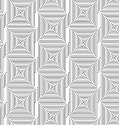 Slim gray square connecting spirals in row vector image vector image