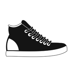 Sneakers black simple icon vector