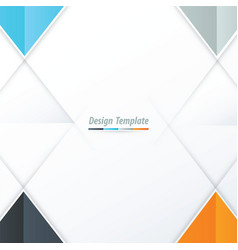 Template triangle design orange blue gray vector