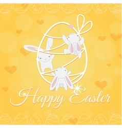White easter bunny welcome and climber vector