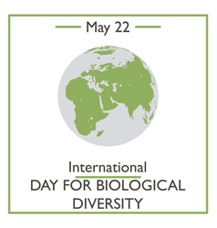 International day for biological diversity vector