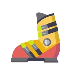 Figure Skates Icon Isolated on White vector image