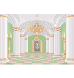 Palace hall vector