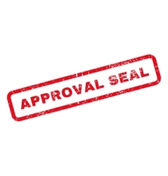 Approval seal text rubber stamp vector