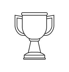 Isolated cup championship vector