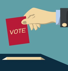 Hand giving vote vector image
