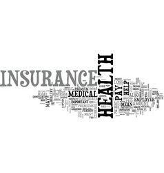Why is health insurance important text word cloud vector