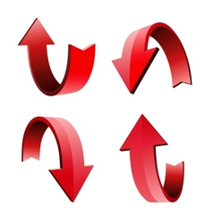 Set of 3d arrow vector