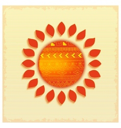 Hot abstract ethnic sun vector