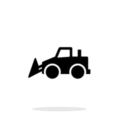 Bulldozer simple icon on white background vector