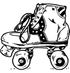 retro roller boots vector image