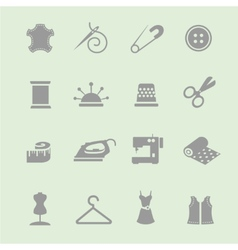 Sewing equipment and needlework icon set vector