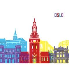Oslo skyline pop vector