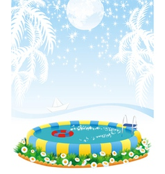 Outdoor pool vector
