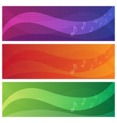 Banners set of music theme vector