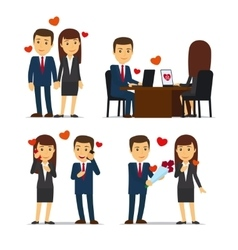 Office romance or love affair at work vector