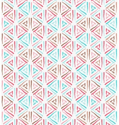 Triangle ethnic grunge seamless pattern vector