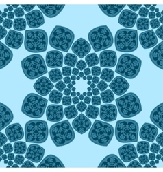 Abstract seamless blue pattern vector