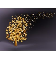 Abstract gold background EPS 8 vector image