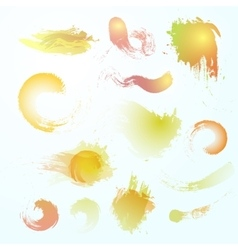 Abstract watercolor blots vector image vector image