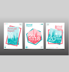 annual report 201720182019 template layout vector image vector image