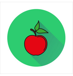 apple simple icon on white background vector image
