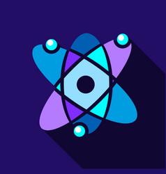 Atom icon flat style vector
