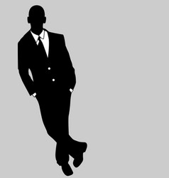 business man black and white 4 vector image vector image