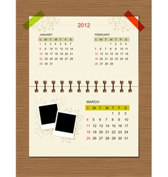 calendar2012 march vector image vector image