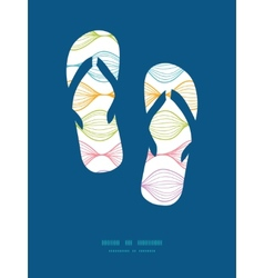 Colorful horizontal ogee flip flops vector