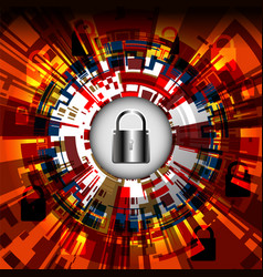Cyber digital padlock vector