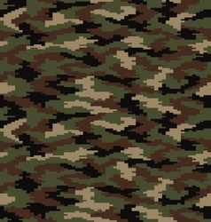 Digital camouflage seamless vector image vector image