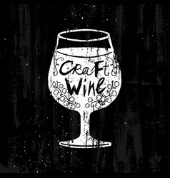 Drawing craft wine concept vector