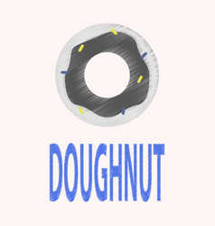 flat icon in shading style donut logo vector image