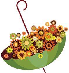 flowers in umbrella vector image vector image