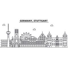 Germany stuttgart architecture line skyline vector