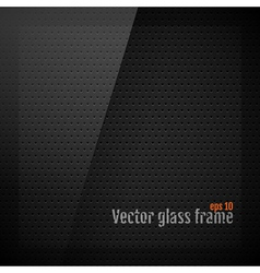 Glass frame background on carbon fiber texture vector